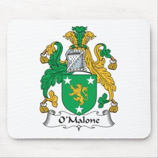 Escudo de la familia de O'Malone Tapetes De Raton