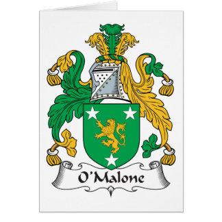 Escudo de la familia de O'Malone Tarjetas