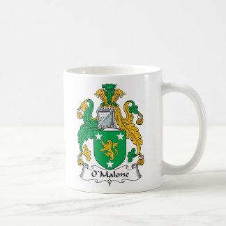Escudo de la familia de O'Malone Taza De Café