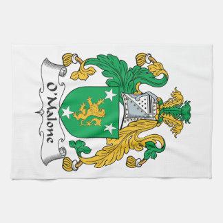 Escudo de la familia de O'Malone Toalla