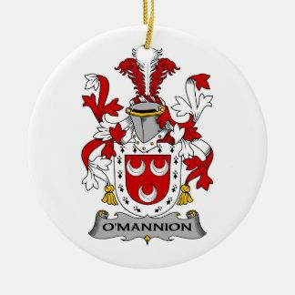 Escudo de la familia de O'Mannion Ornato