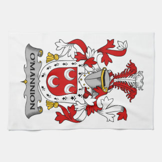 Escudo de la familia de O'Mannion Toallas De Cocina