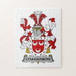 Escudo de la familia de O'Mannion Rompecabezas