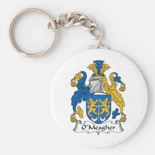 Escudo de la familia de O'Meagher Llaveros Personalizados