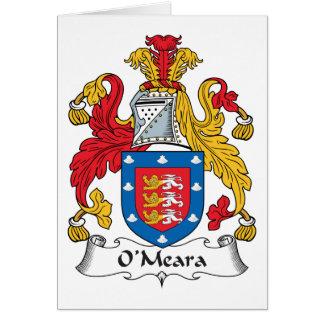 Escudo de la familia de O'Meara Tarjeta