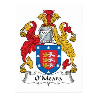 Escudo de la familia de O'Meara Tarjetas Postales