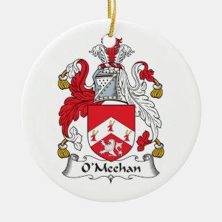 Escudo de la familia de O'Meehan Adorno Redondo De Cerámica