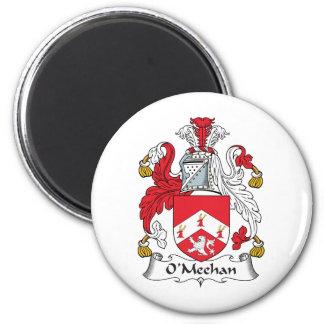 Escudo de la familia de O'Meehan Imán Redondo 5 Cm
