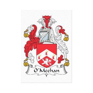 Escudo de la familia de O'Meehan Impresiones En Lienzo Estiradas