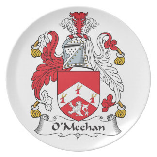 Escudo de la familia de O'Meehan Plato Para Fiesta