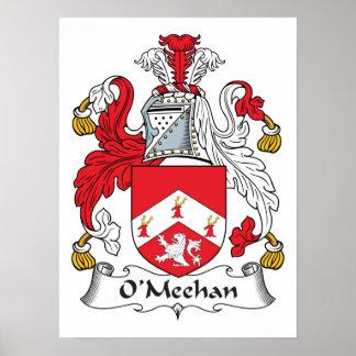 Escudo de la familia de O'Meehan Póster