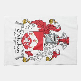 Escudo de la familia de O'Meehan Toallas De Mano