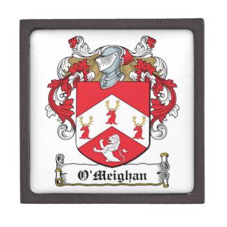 Escudo de la familia de O'Meighan Caja De Recuerdo De Calidad