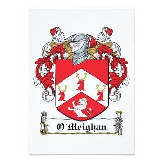 Escudo de la familia de O'Meighan Comunicado Personalizado