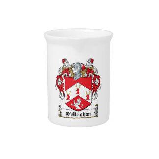 Escudo de la familia de O'Meighan Jarras Para Bebida