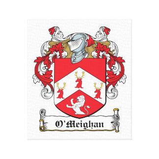 Escudo de la familia de O'Meighan Lona Estirada Galerias