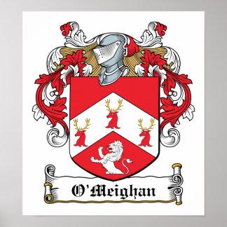 Escudo de la familia de O'Meighan Poster