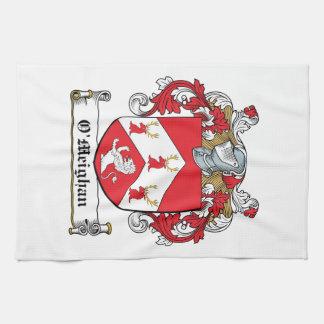 Escudo de la familia de O'Meighan Toallas De Cocina