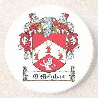 Escudo de la familia de O'Meighan Posavasos Cerveza