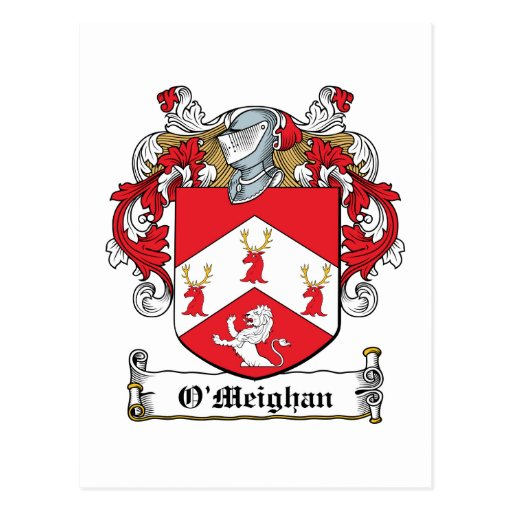 Escudo de la familia de O'Meighan Postal