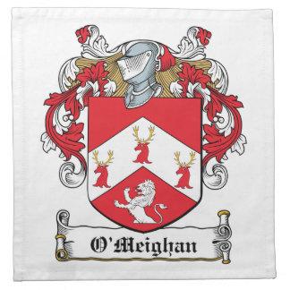 Escudo de la familia de O'Meighan Servilletas