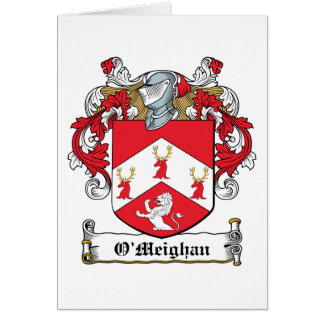 Escudo de la familia de O'Meighan Felicitacion