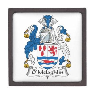 Escudo de la familia de O'Melaghlin Cajas De Recuerdo De Calidad