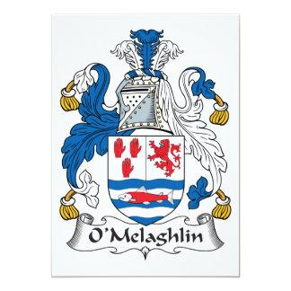 Escudo de la familia de O'Melaghlin Invitación 12,7 X 17,8 Cm