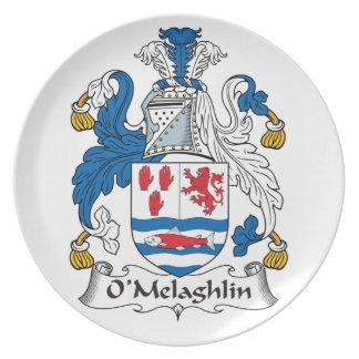 Escudo de la familia de O'Melaghlin Plato