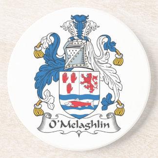 Escudo de la familia de O'Melaghlin Posavasos Cerveza