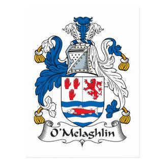 Escudo de la familia de O'Melaghlin Postal