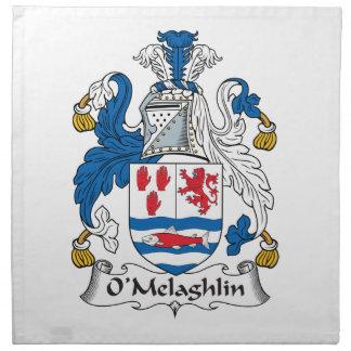 Escudo de la familia de O'Melaghlin Servilletas De Papel