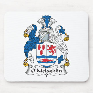Escudo de la familia de O'Melaghlin Tapete De Ratones