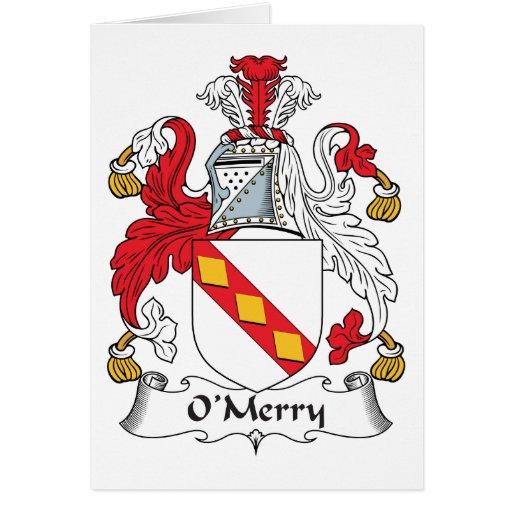 Escudo de la familia de O'Merry Felicitaciones