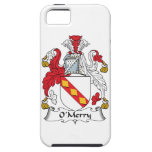 Escudo de la familia de O'Merry iPhone 5 Protectores