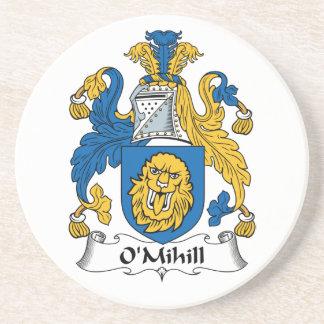 Escudo de la familia de O'Mihill Posavaso Para Bebida