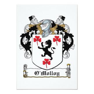 Escudo de la familia de O'Molloy Invitación Personalizada
