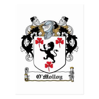 Escudo de la familia de O'Molloy Tarjeta Postal