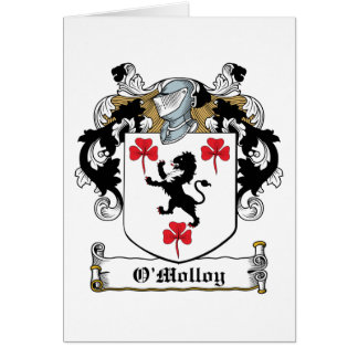 Escudo de la familia de O'Molloy Tarjetón