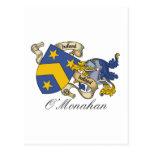 Escudo de la familia de O'Monahan Postales