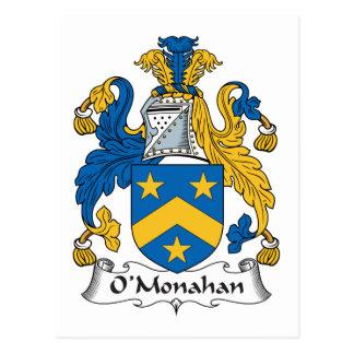 Escudo de la familia de O'Monahan Tarjetas Postales