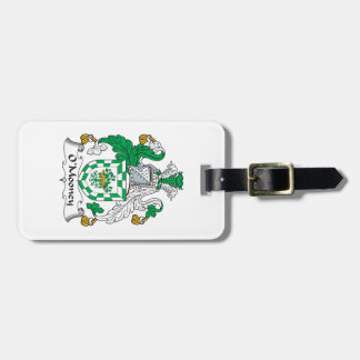 Escudo de la familia de O'Mooney Etiqueta De Equipaje