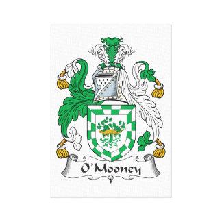 Escudo de la familia de O'Mooney Impresiones En Lona Estiradas