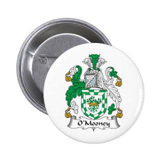 Escudo de la familia de O'Mooney Pin Redondo 5 Cm