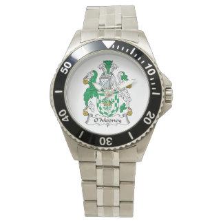 Escudo de la familia de O'Mooney Relojes