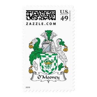 Escudo de la familia de O'Mooney Sello Postal