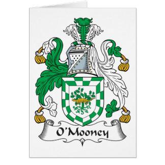 Escudo de la familia de O'Mooney Tarjeta De Felicitación