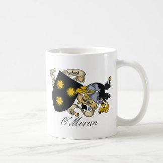 Escudo de la familia de O'Moran Taza Básica Blanca