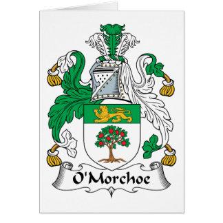 Escudo de la familia de O'Morchoe Tarjeta De Felicitación