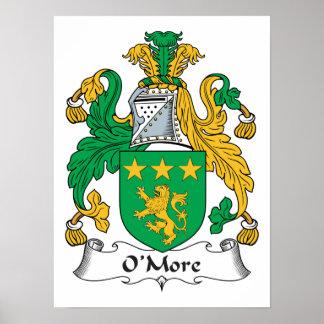 Escudo de la familia de O'More Posters